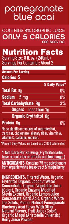 core-organic-pomegranate-blue-acai-fact-panel-ingredients