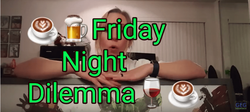 GreenEyedGuide Caffeine Challenge Day 3/10 – Alcohol and Caffeine (Friday Night Dilemma)