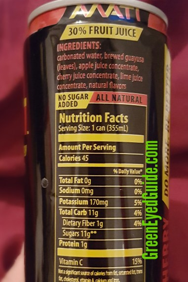 MATI nutrition facts