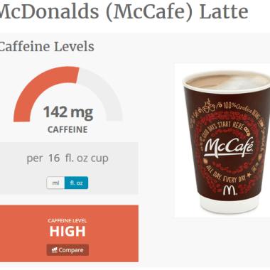 McDonalds Caffe Latte