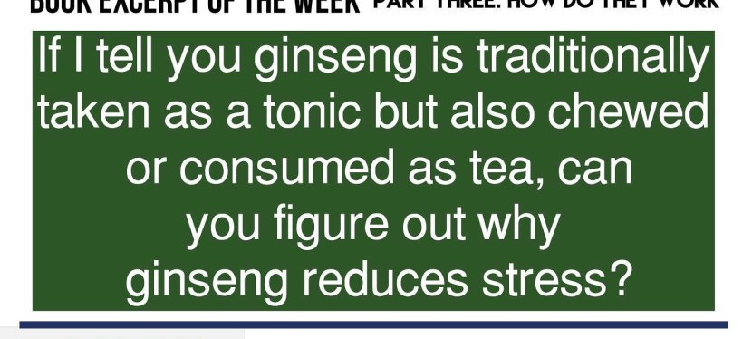 Does Panax Ginseng Really Work? Book Excerpt of the Week