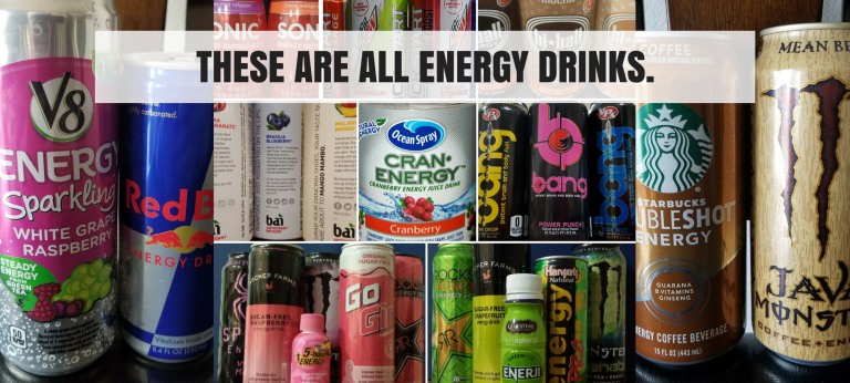 spectrum of energy drinks