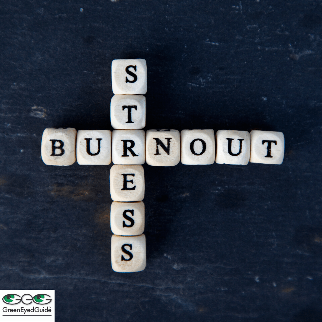 stress meets burnout scrabble letters