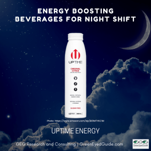 What should I drink on night shift - energy boosting beverage Uptime Original Sugar Free