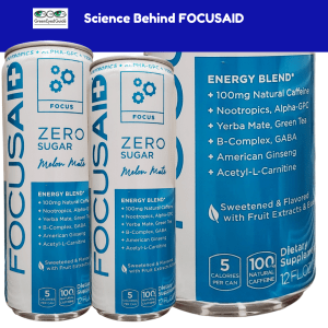 FOCUSAID nootropic energy drink hybrid front of label