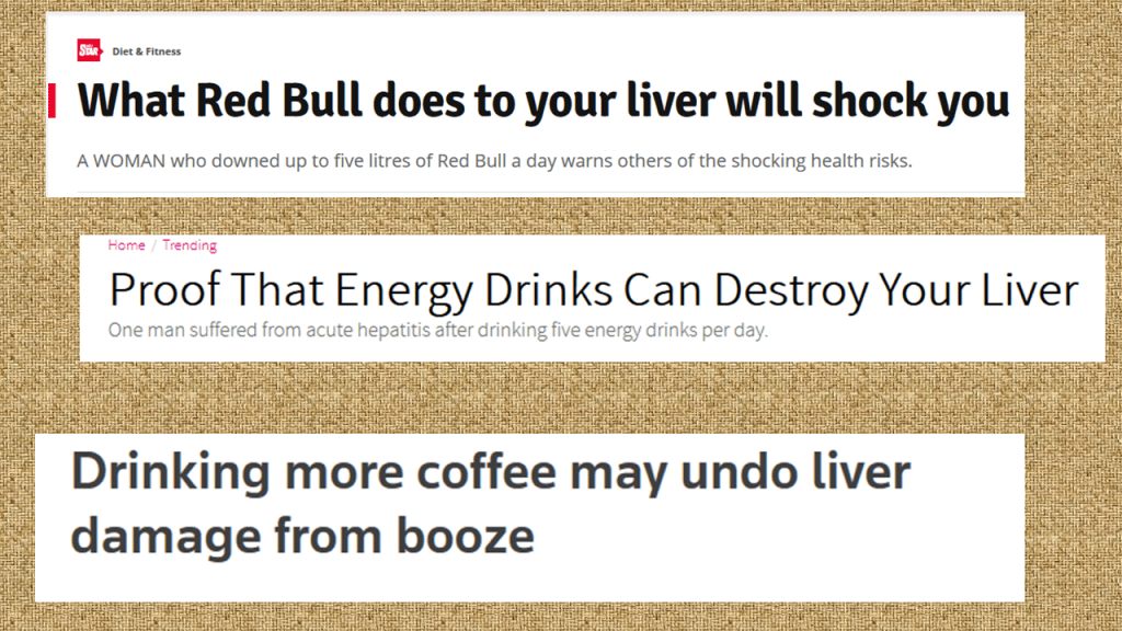 what happens to your liver when you drink caffeine energy drinks