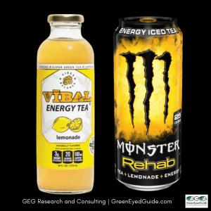 vibal energy tea and monster rehab lemonade