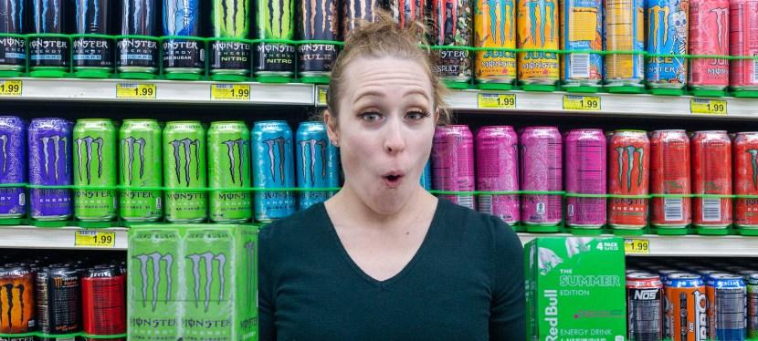 GreenEyedGuide in energy drink aisle