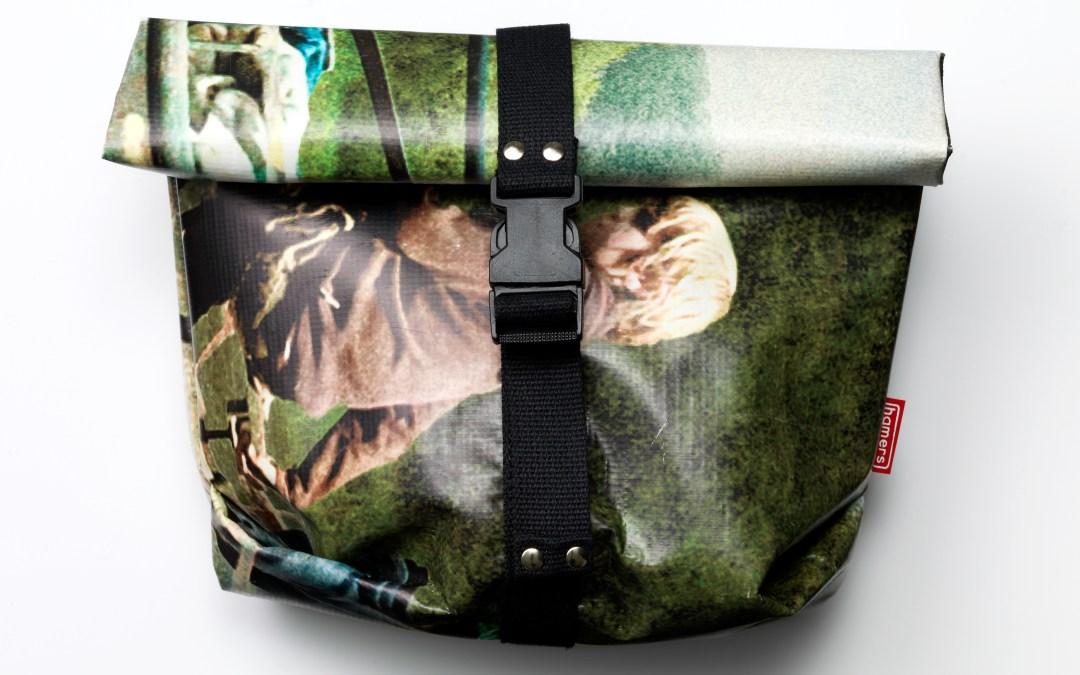 Tassen van filmbanieren bij Eye Filmmuseum en Vue; Upcycling op z'n best!
