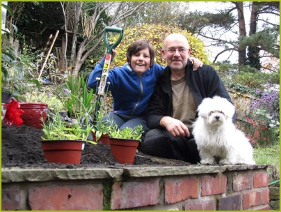Plant a shrub with help from Buster