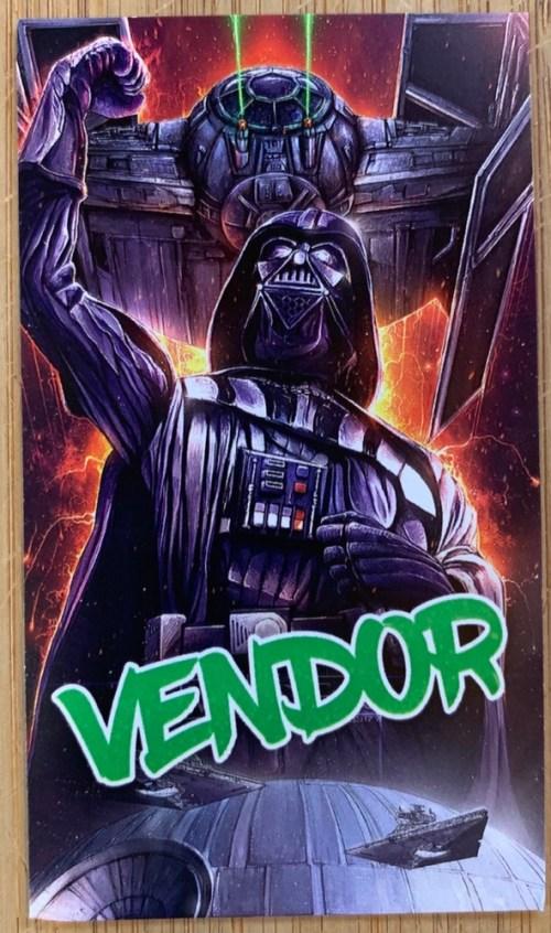 Darth Vader HawaiiCon 2018 trading card back view