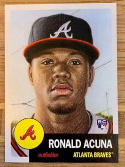 2018 Ronald Acuna baseball trading card