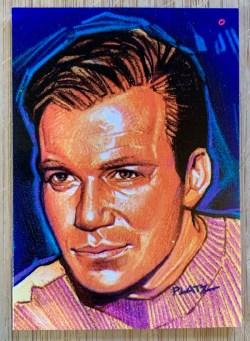 William Shatner Star Trek trading card front view