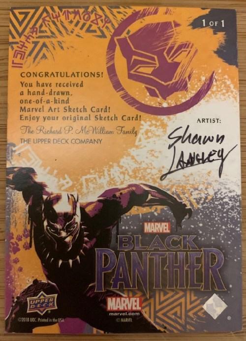 Black Panther signed sketch card