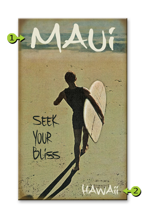 Seek Your Bliss 14 x 24 Wood Sign