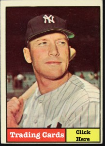 mickey mantle trading card