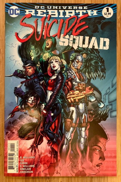 Suicide Squad 2016 comic book cover