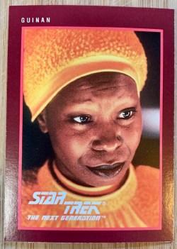 Whoopi Goldberg Guinan Star Trek trading card front view