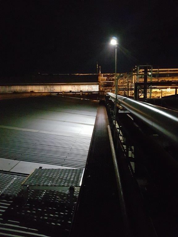 solar security rooftop lighting