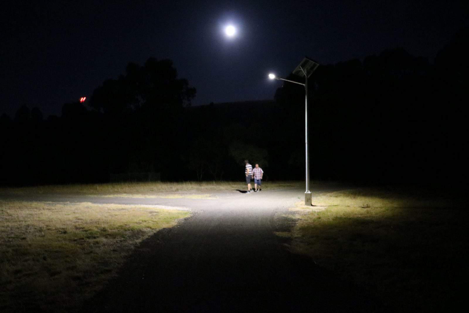 solar street lighting at Hewett South Australia