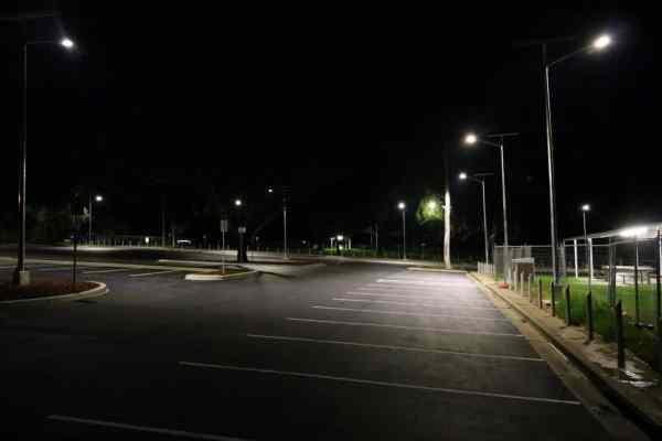 solar street lighting of car park in Wagga Wagga NSW