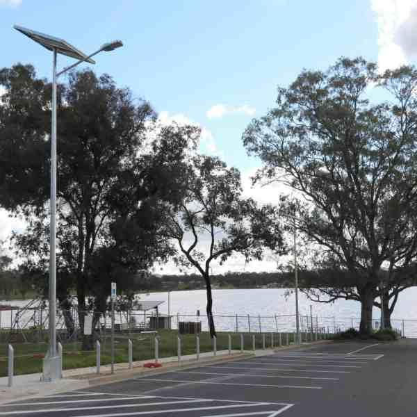 solar street lighting of Wagga Wagga car park NSW