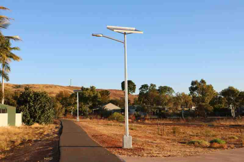solar street lights in Karratha WA