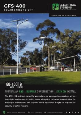 GFS 400 Solar street light