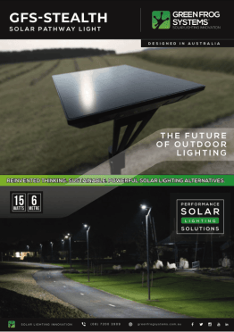 GFS-STEALTH solar pathway light brochure