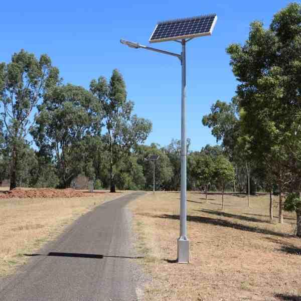 Solar powered street lighting - Hewett SA