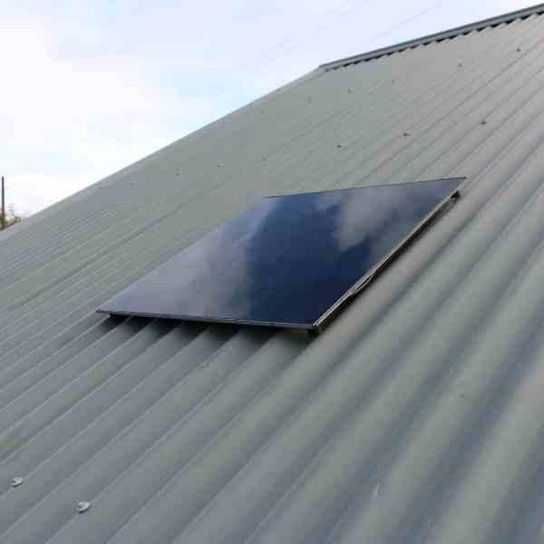 solar shelter light solar panel on flat roof