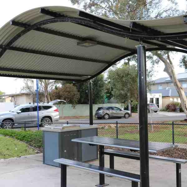 light station for solar powered shelter light