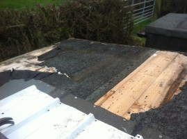 Shed roof in need of repair