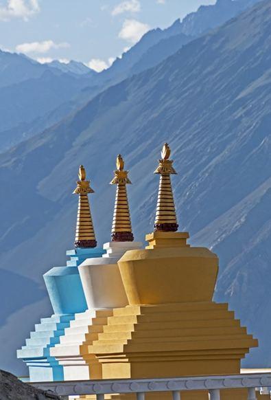 Three Stupas Nubra V