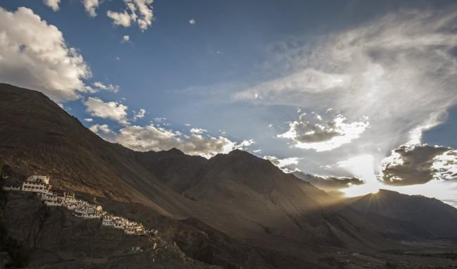 Nubra Valley Temple Light