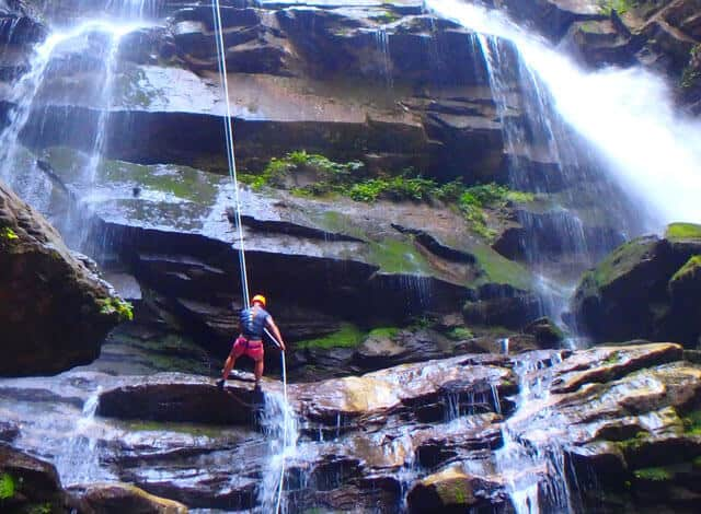 What to do in Asheville: Rappel Green River Gorge