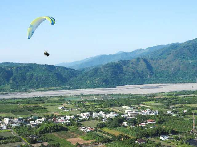 Paragliding in Luye Taiwan