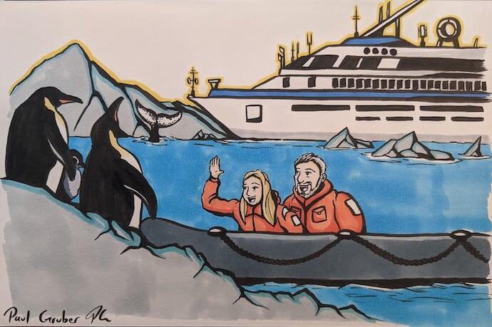 Mary Gabbett & Bret Love of Green Global Travel in 2012