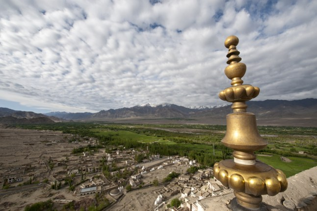 Thiksey view with stupa