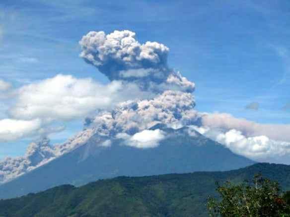 Eruption of Volcano Fuego, Guatemala