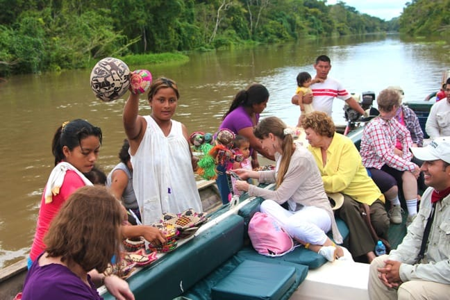 Floating Craft Store in the Peruvian Amazon