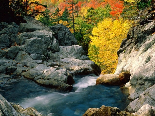 Glen Falls, White Mountain National Forest  New Hampshire
