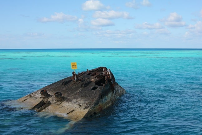 The HMS Vixen, Sunk Off Daniel's Head, Bermuda in 1895