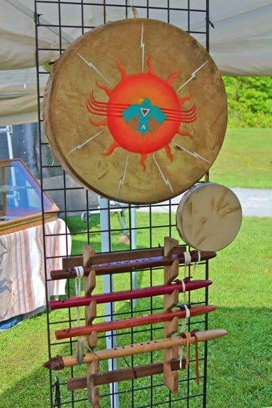 American Indian Drums & Flutes Made by Mark Barfoot