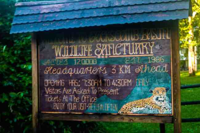 Welcome_Sign_Cockscomb_Basin_Wildlife_Sanctuary_Belize