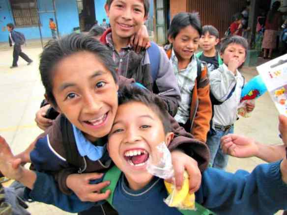 Guatemalan Students from the Volunteering Days