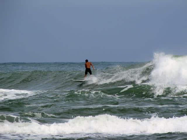Surfer in Puerto Viejo