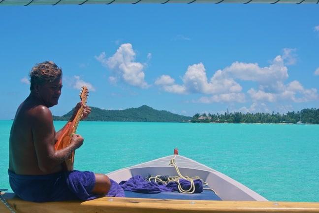 Swimming With Sharks in Bora Bora