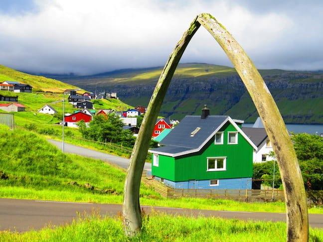 Faroe Islands Whale Jaw, photo by Mike Jerrard