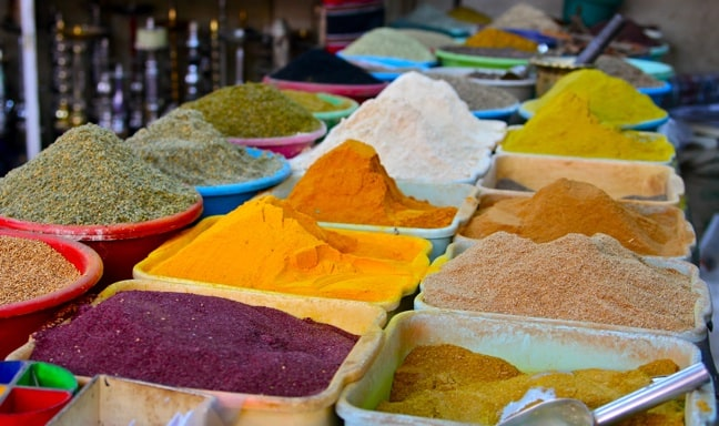 Aphrodisiacs and Other Spices at Market in Amman, Jordan